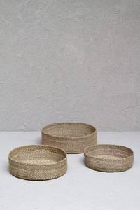 Bilde av Dharma Door - Trio of Round Grass Baskets - Low